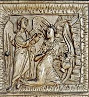 Благовещение у колодца, Миланский диптих, 5 век