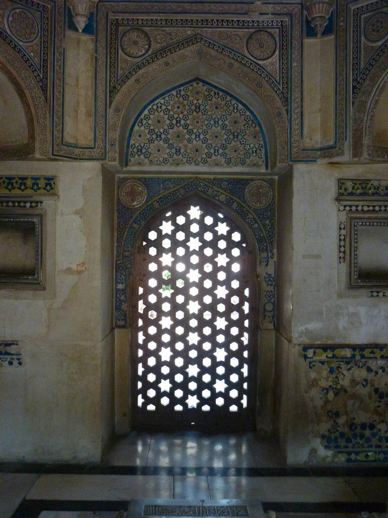 Индия. Дели. Мусульманские узоры