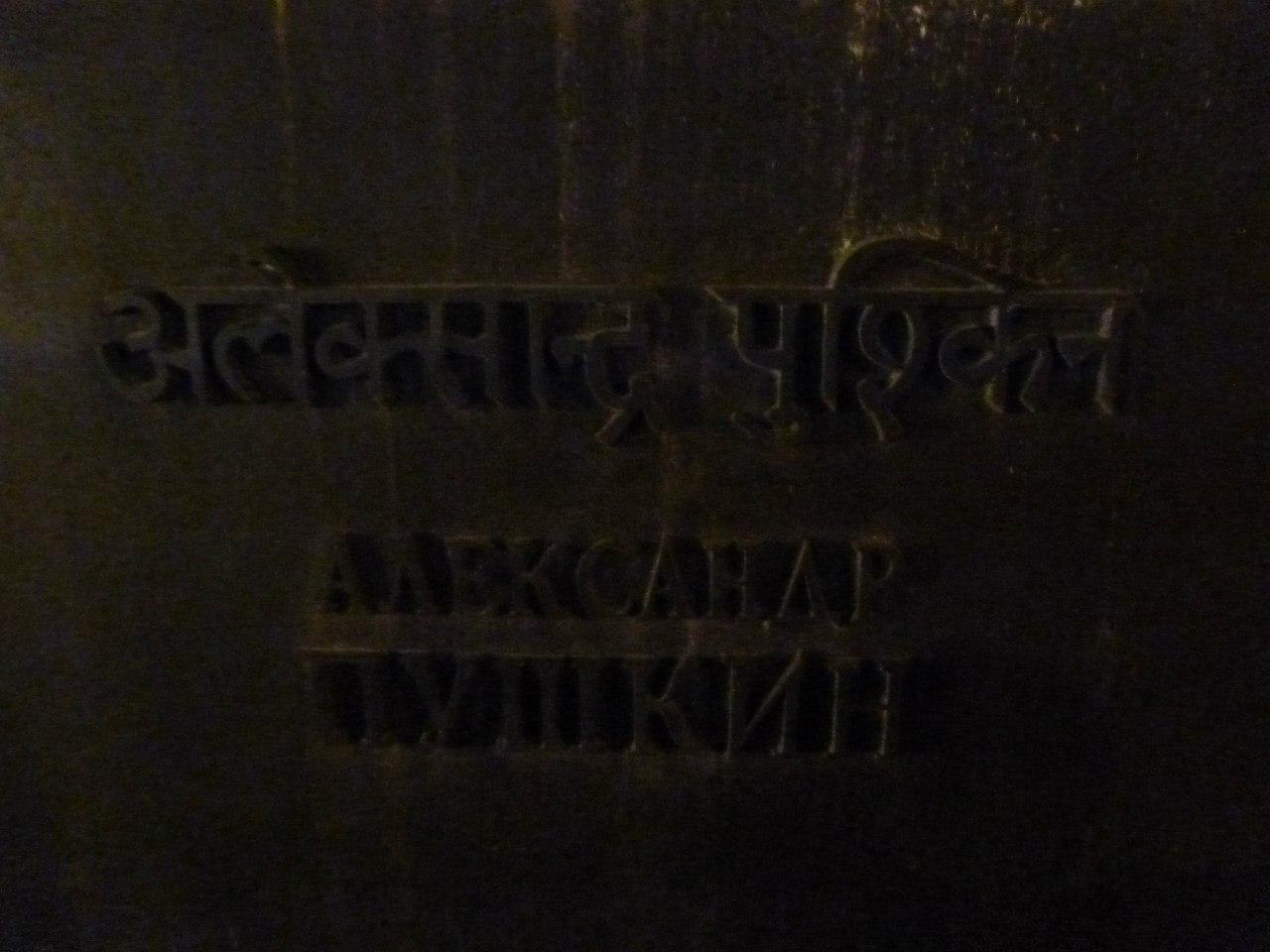 Индия. Дели. Памятник Пушкину