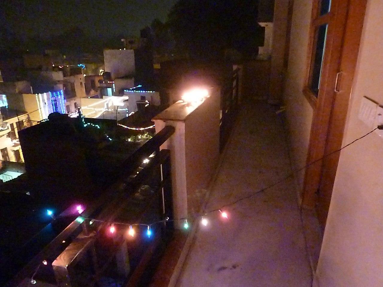 Индия. Дели. Огни
