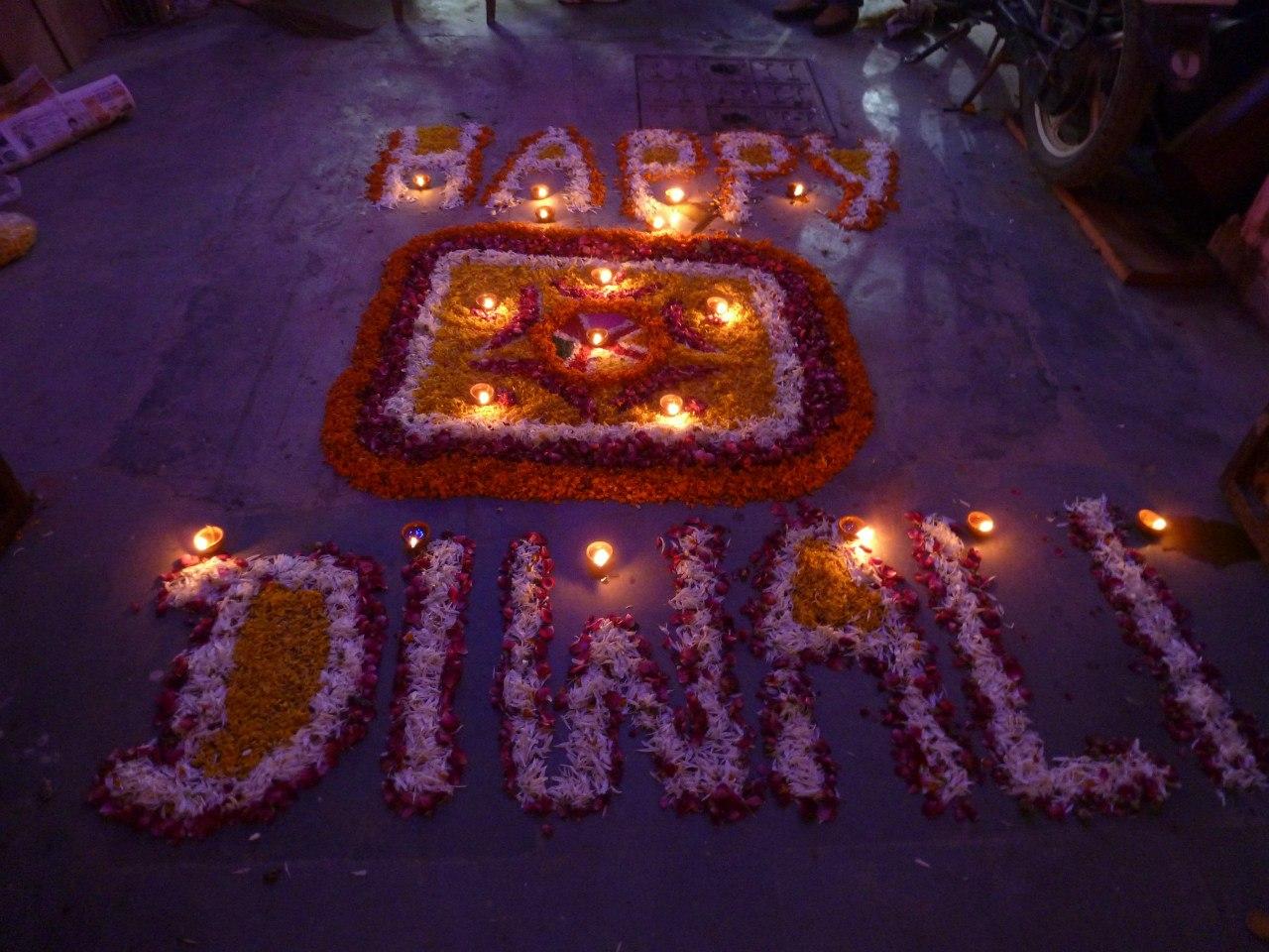 Индия. Дели. Праздник светильников