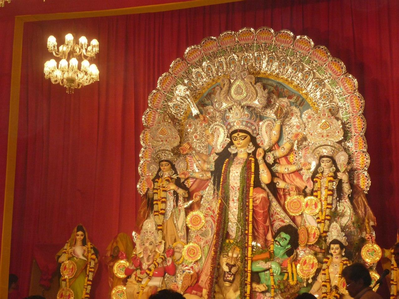 Индия. Дели. Праздник Дурги