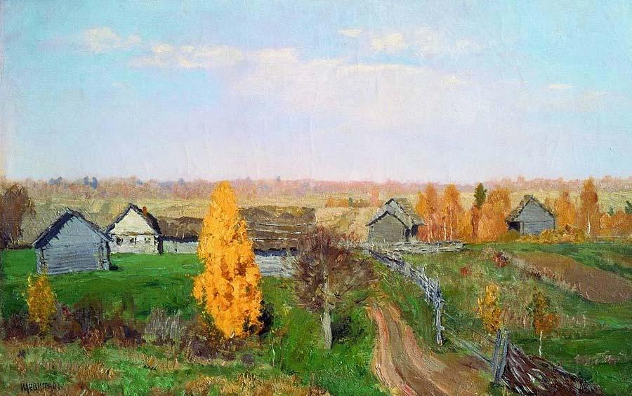 Левитан, Золотая осень. Слободка
