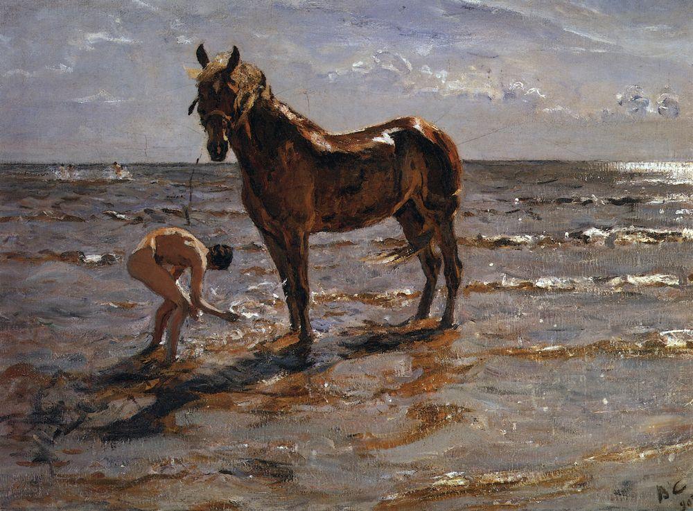 Серов, Купание лошади