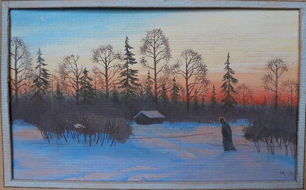 Коми, заполярье, 1985. Художник-иконописец Юрий Никитин