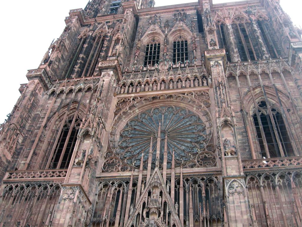 Кафедральный собор в Страсбурге, общий вид главного фасада