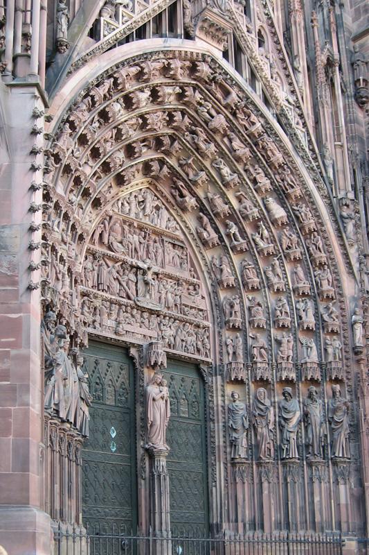 Страсбург. Входной портал собора