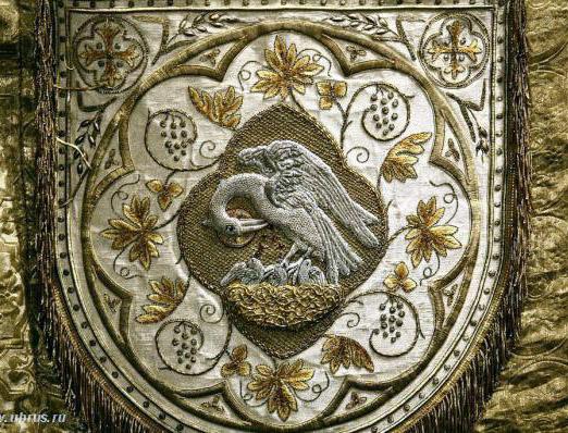 Пеликан. Церковное шитье