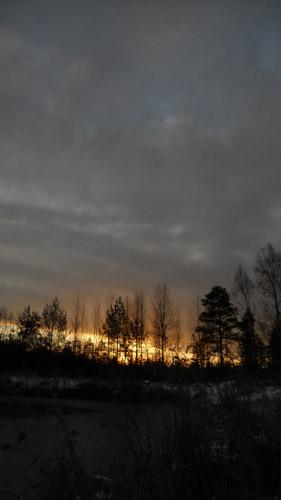 И редкий солнца луч, и первые морозы