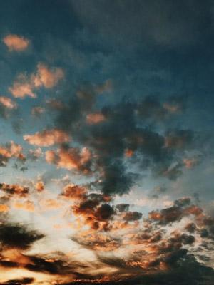 времена года, октябрь, осень, небо