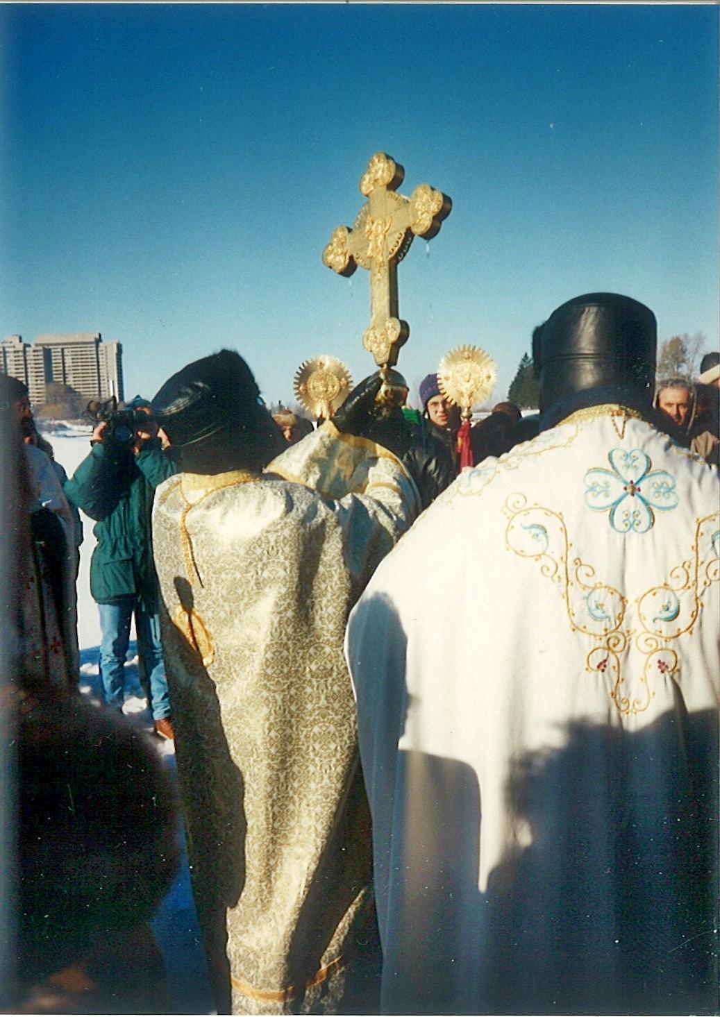 Водосвятие в праздник Крещения на Оттаве-реке, Канада