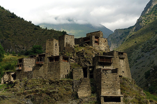 Село Шатили в Хевсурети (Грузия)