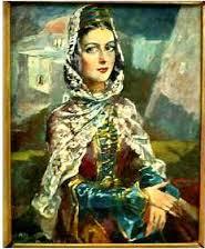 Халилбек Мусаясул. Портрет аварки из с.Чох