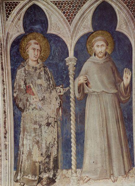 после смерти святого Франциска дух его снизошел на святого Антония