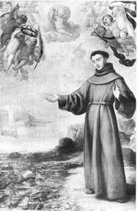 Святой Антоний отпустил рыб с благословением Божьим