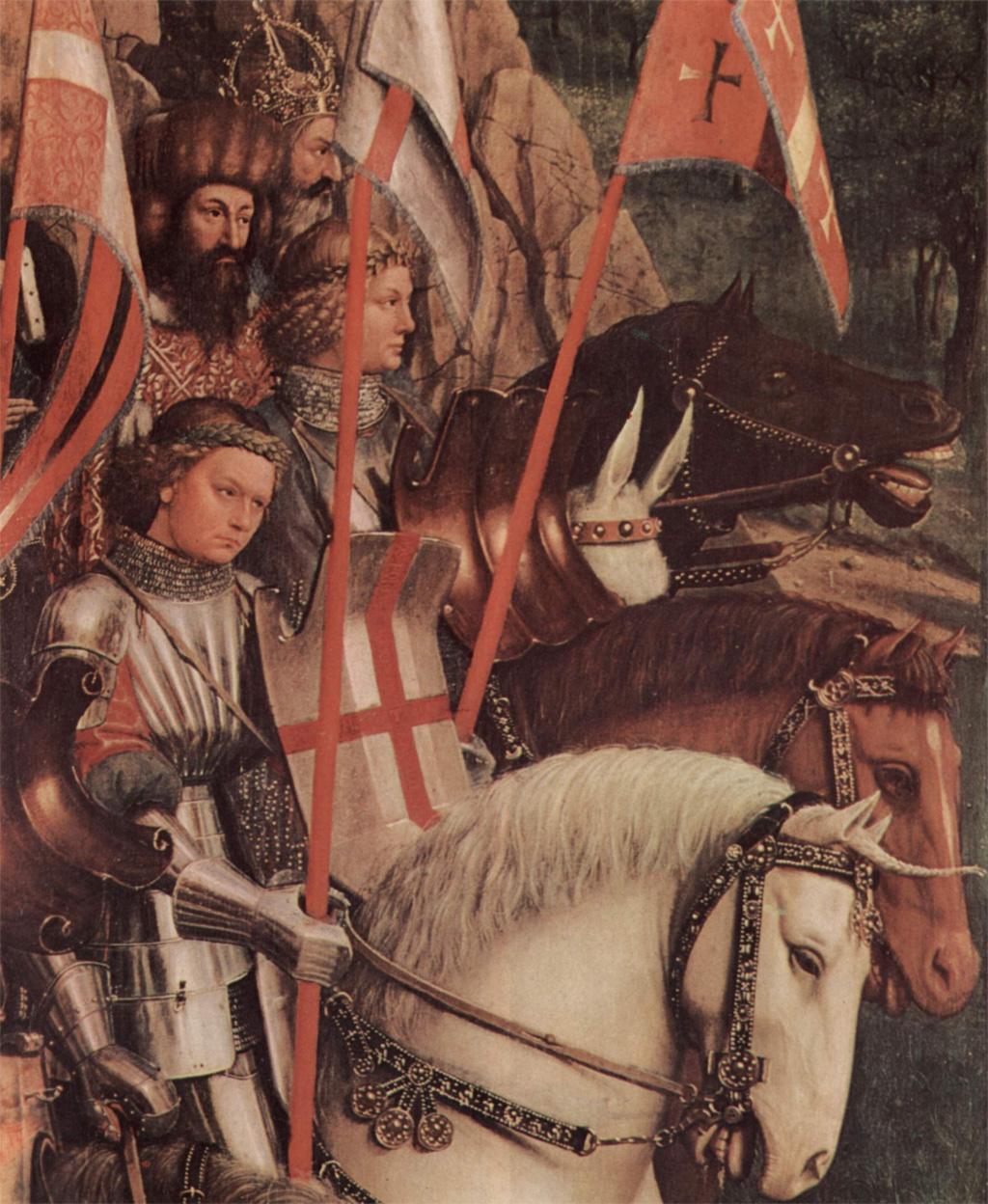 Гентский алтарь, рыцари Креста
