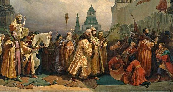 В. Г. Шварц. Шествие на осляти в эпоху царя Алексея Михайловича.