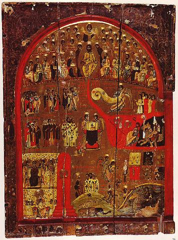 Византийская икона Страшного Суда из монастыря Св. Екатерины на Синае, 12 век