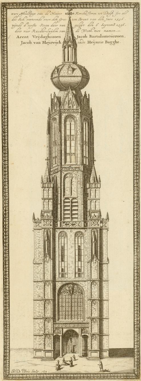 Башня Новой Церкви Дельфта, 16-17 век