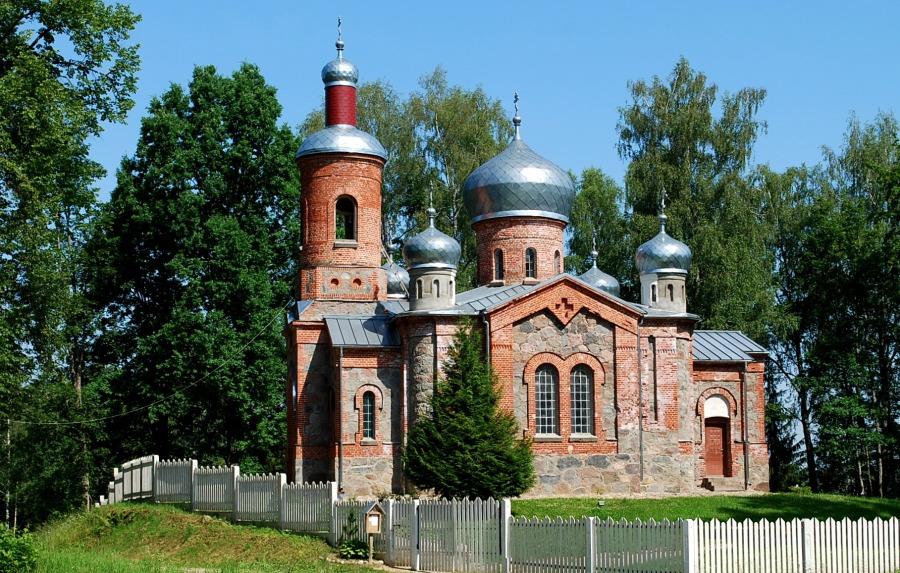 Марциена, церковь святителя Алексия. арх. Я. Бауманис