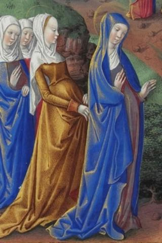 Средневековый часослов; Апостолы, фрагмент