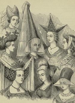 Рисунки женских головных уборов