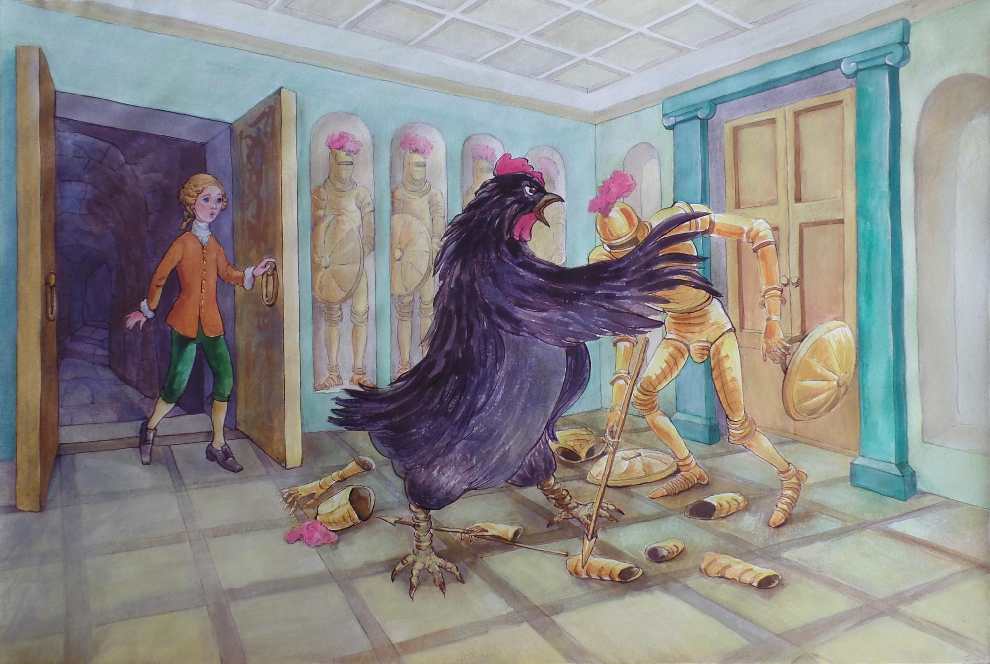 Рисунки к произведению черная курица или подземные жители карандашом