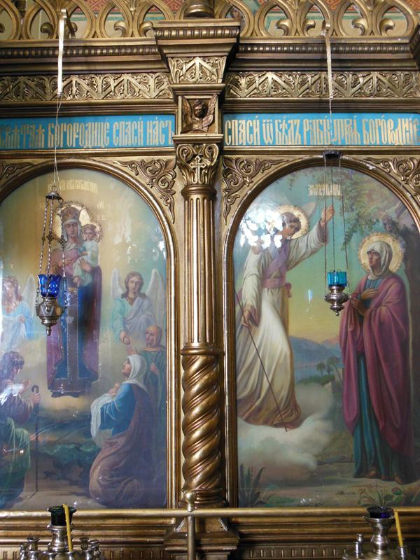 Иконостас малого придела в храме Всех Святых в Риге