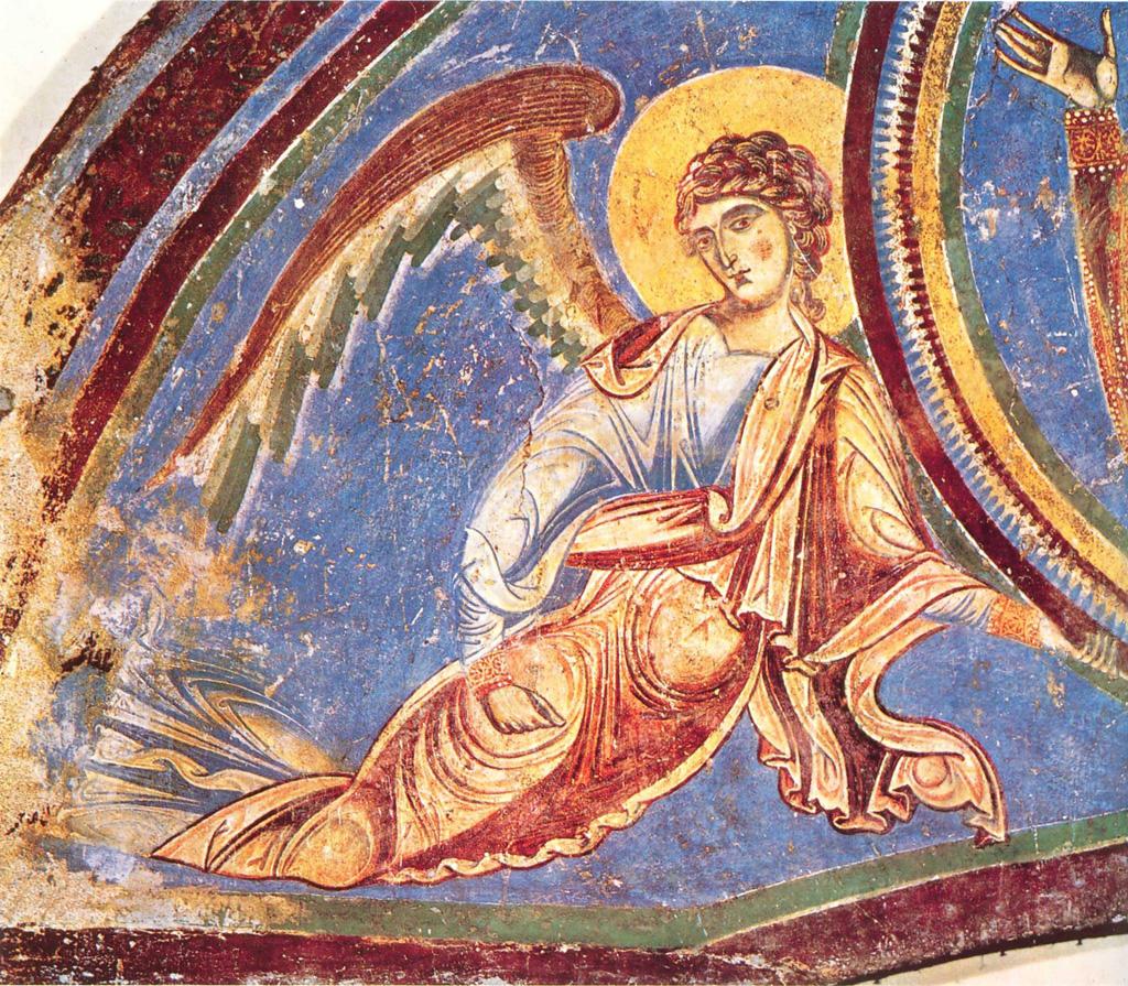 «Всенепорочность и бестелесность». Ангел Господень на фреске в аббатстве Сант Анджело ин Формис