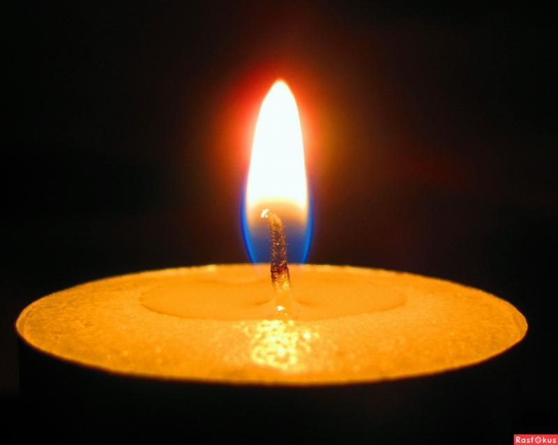 Пламя свечи (от голубого к ослепительно белому)