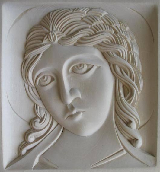 «Возвеститель божественного молчания». Ангел «Златые власы». Резьба по дереву