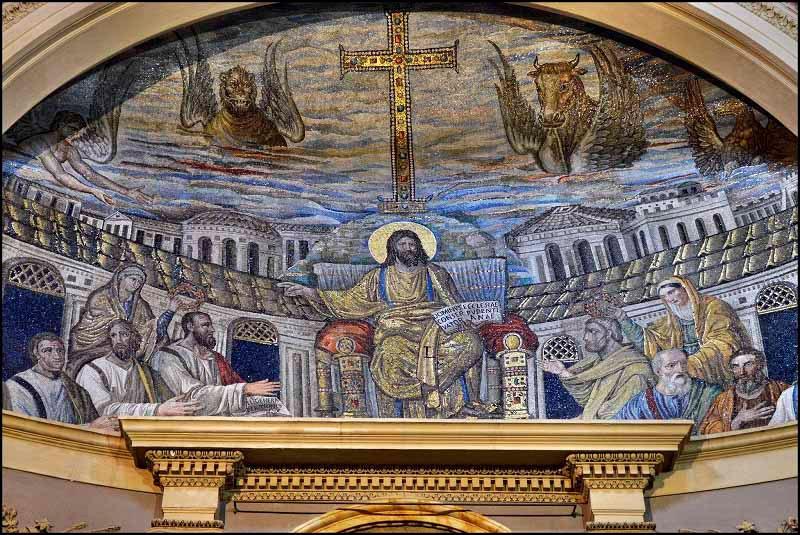 мозаика апсиды церкви Св. Пуденцианы в Риме