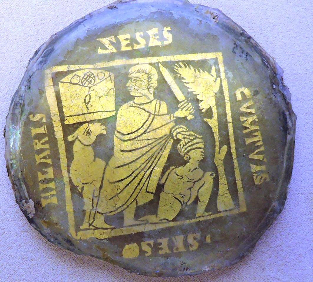Позолоченные стекла, жертвоприношение Авраама