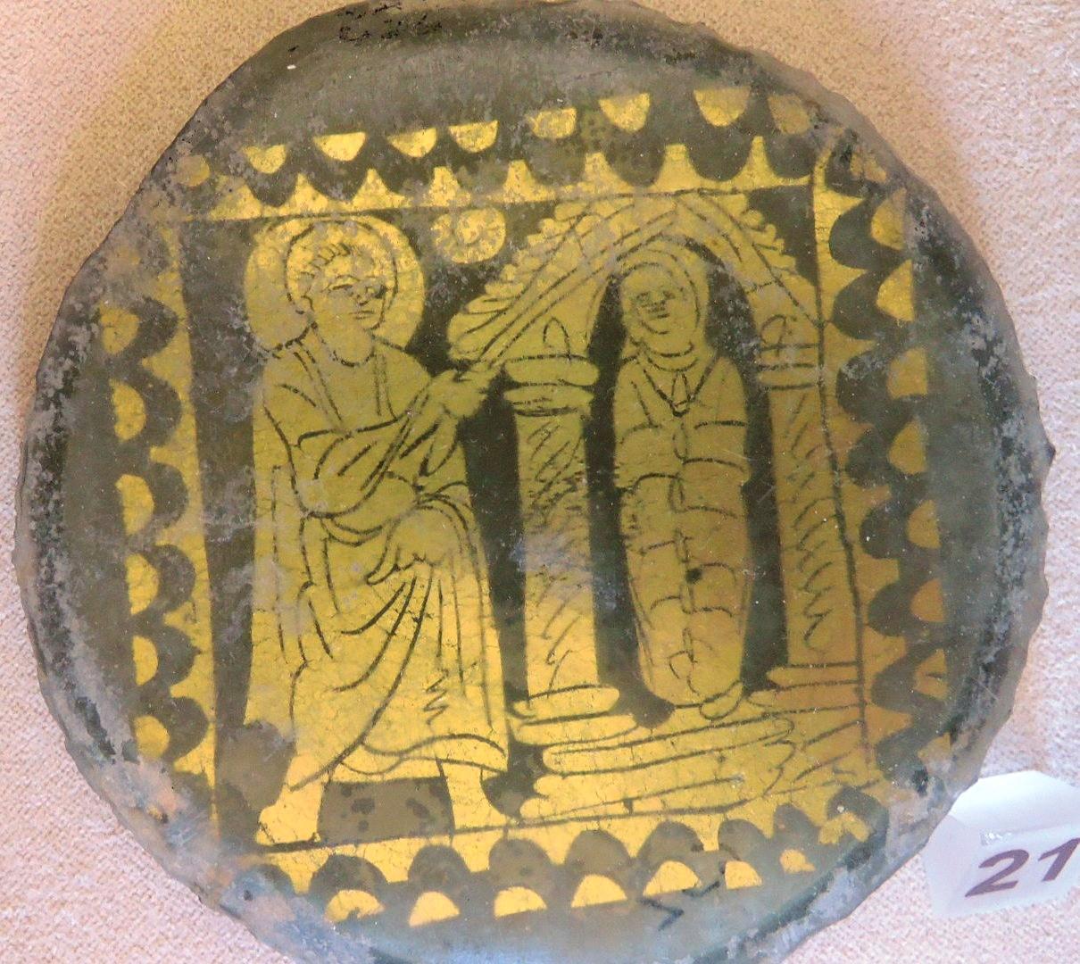 Позолоченные стекла, воскрешения Лазаря