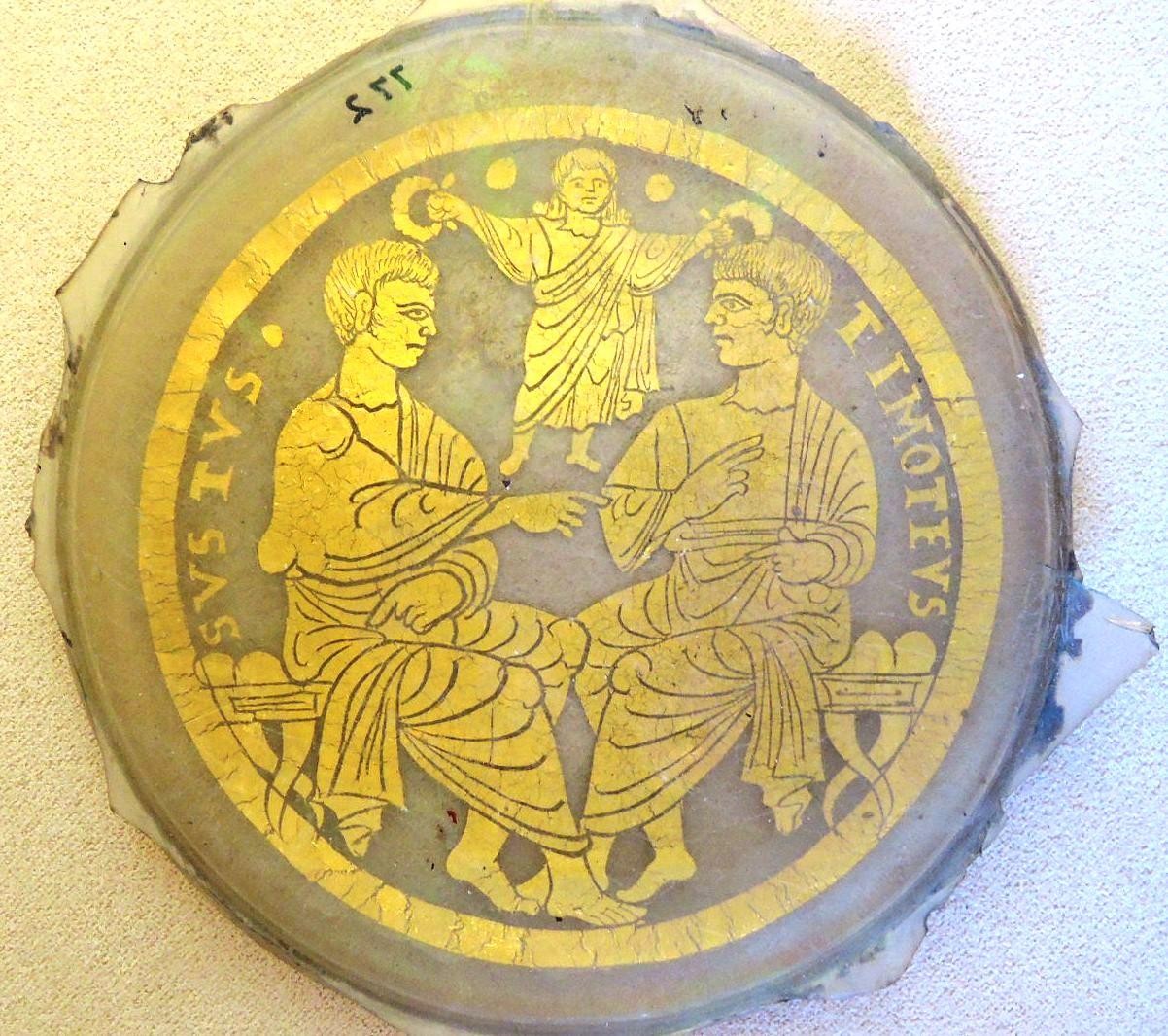 Позолоченные стекла, Свв. Тимофей и Сикст