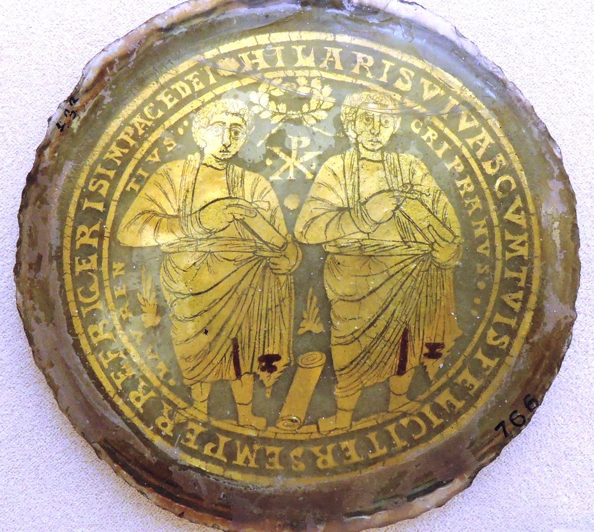 Позолоченные стекла, Свв. Лаврентий и Киприан
