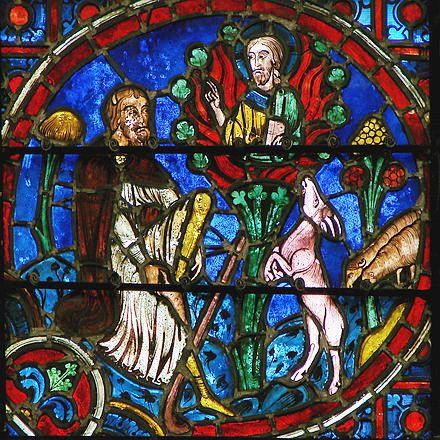 витраж: Моисей у Неопалимой Купины
