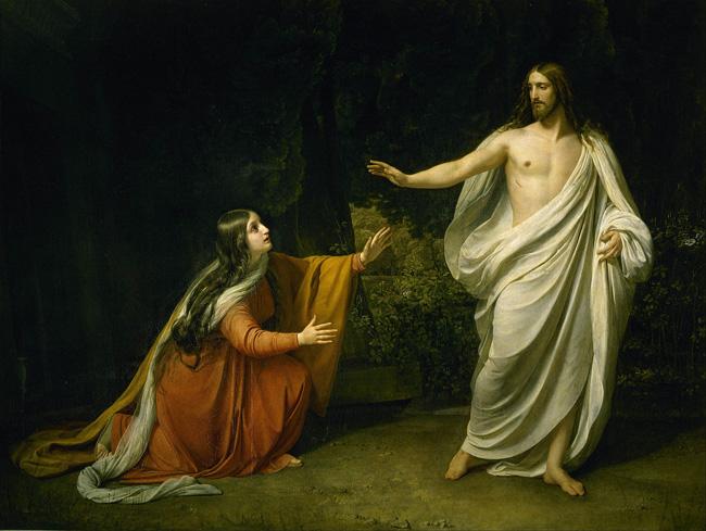 Явление Христа Марии Магдалине, 1835 г, Александр Иванов