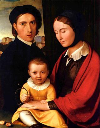 автопортрет с семьей И. Х. Овербека, 1820