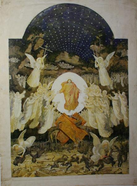 Александр Иванов. Эскиз запрестольного образа Храма Христа Спасителя