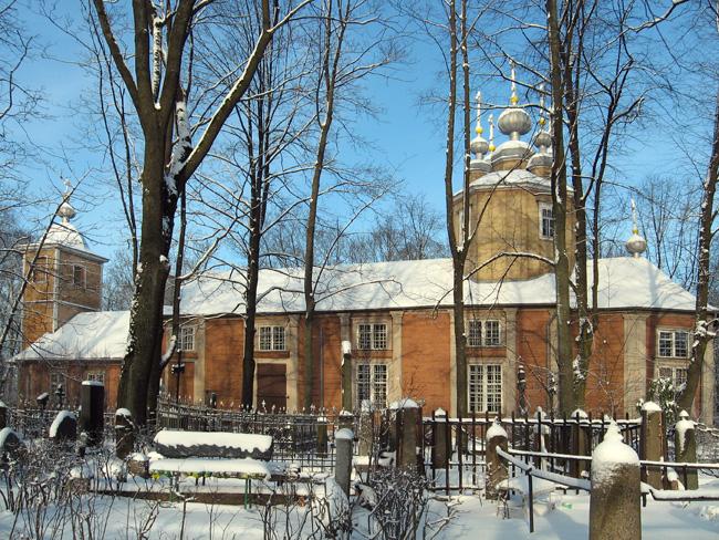 Бывшая Всехсвятская деревянная церковь в Риге (ныне - церковь Казанской иконы Пресвятой Богородицы на Ивановском кладбище)