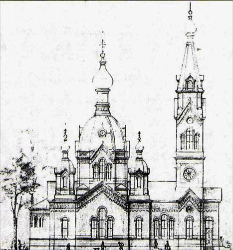 Задвинская Свято-Троицкая церковь в Риге, проект Я. Бауманиса