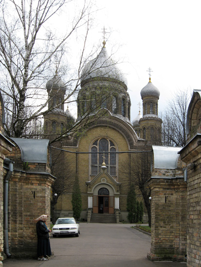 Свято-Троицкий собор на территории Свято-Троице-Сергиевой обители в Риге