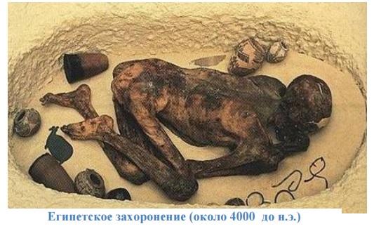 Египетское захоронение (около 4000 до н.э.)