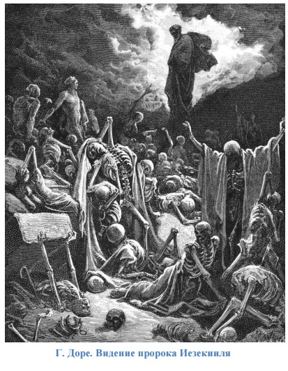 Г. Доре. Видение пророка Иезекииля