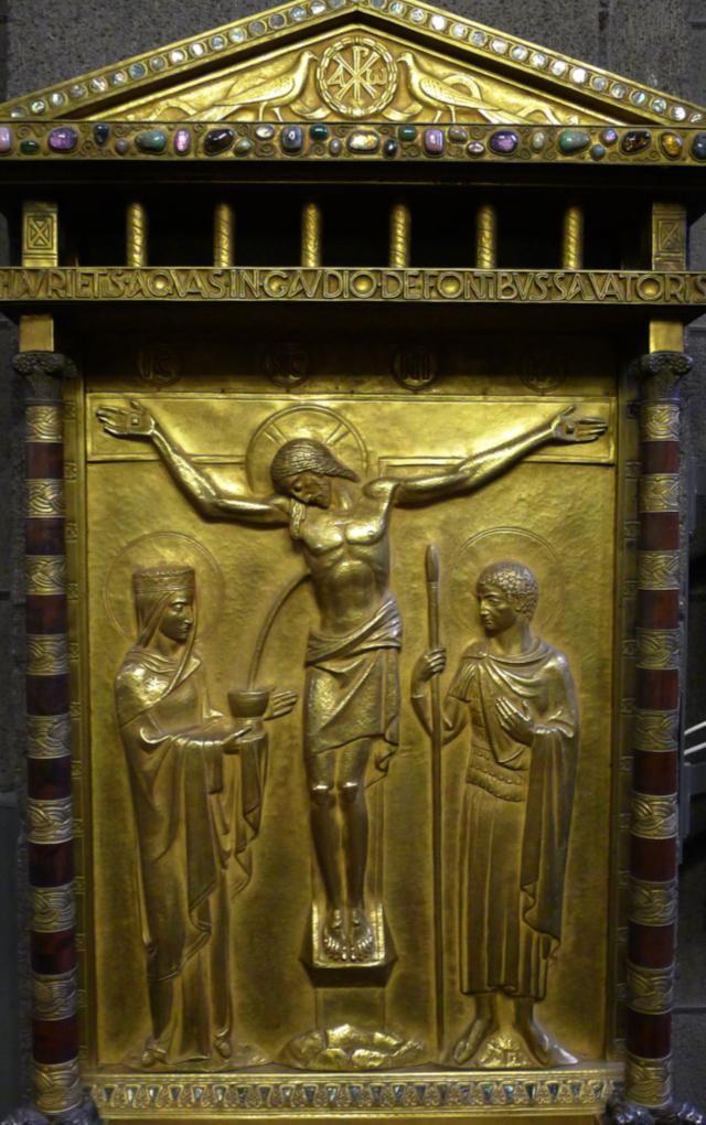 икона ордена бенедиктинцев «И в радости будете почерпать воду из источников спасения»