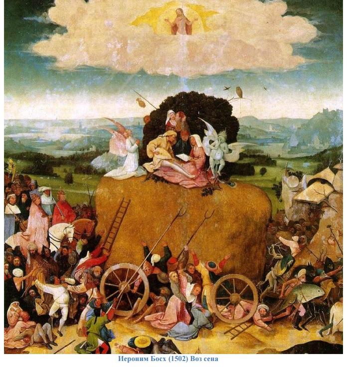 Иероним Босх (1502) Воз сена